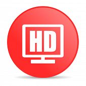 hd display red circle web glossy icon
