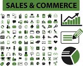 sales & commerce, business, retail, marketing, management, presentation icons, signs set, vector