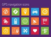 picture of gps navigation  - GPS navigation icons - JPG