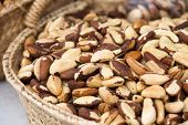 stock photo of brazil nut  - Brazil Nuts On The Spanish Market  - JPG