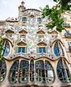BARCELONA, SPAIN - JUNE 03: Casa Batllo Facade. The famous building designed by Antoni Gaudi is one