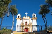 stock photo of guadalupe  - Guadalupe church in San Cristobal de las Casas Mexico