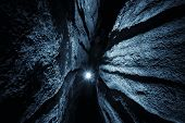 picture of cave  - Light at the end of a cave - JPG
