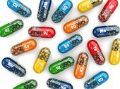 stock photo of antibiotics  - Dietary supplements - JPG