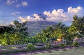 stock photo of luzon  - Mount Mayon is an active volcano in Albay - JPG