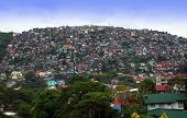stock photo of overpopulation  - Hillside in Baguio City - JPG