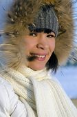picture of chukotka  - A portrait of young beautiful chukchi woman