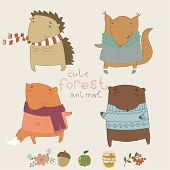 image of moon-flower  - Cute animals living in the forest - JPG