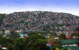stock photo of overpopulation  - Hillside in Baguio City - JPG