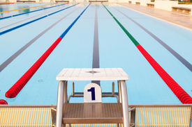 foto of swim meet  - Outdoor Swimming Pool with clearly marked lanes - JPG