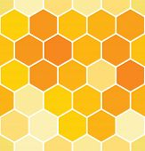 stock photo of honeycomb  - Seamless honeycomb pattern - JPG