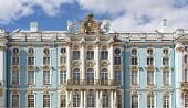 stock photo of sankt-peterburg  - facade of the Catherine Palace Sankt - JPG