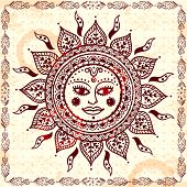 picture of indian culture  - Beautiful Indian floral ornament for your business - JPG