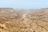 picture of oman  - View of a canyon from highway 49 Dhofar region  - JPG