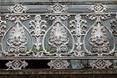 picture of balustrade  - beautifully adorned iron balustrade of the balcony - JPG