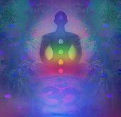 foto of padmasana  - Yoga lotus pose - JPG