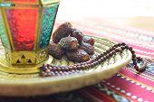 pic of rosary  - Close up of an arabic dates - JPG