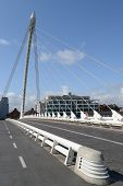 image of calatrava  - The Samuel Beckett Bridge in Dublin Docklands area  - JPG
