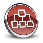 stock photo of vpn  - Image Graphic Icon Button Pictogram with Network symbol - JPG
