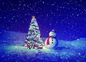 pic of fedora  - Christmas Tree Snowman Outdoor Concept - JPG