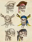 picture of dread head  - Pirates Skulls  - JPG