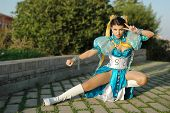 Постер, плакат: Cosplayers Street Fighter Chun Li