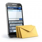 pic of sms  - Mobile phone with short message service - JPG