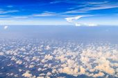 pic of float-plane  - Beautiful cloudy sky view from air plane window - JPG