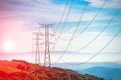 picture of power transmission lines  - Electricity Pylon  - JPG