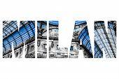 stock photo of emanuele  - Word MILAN Vittorio Emanuele Gallery Milan - JPG