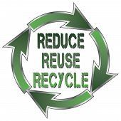 pic of reuse recycle  - Illustration of a recycle symbol with the words Reduce - JPG