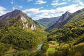 foto of yugoslavia  - Landscape with mountains and canyon of river Tara Montenegro - JPG