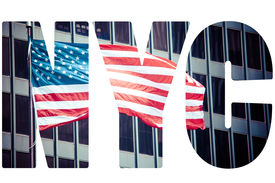 pic of nyse  - An American flag in New York - JPG