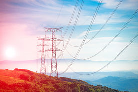 image of electricity pylon  - Electricity Pylon  - JPG