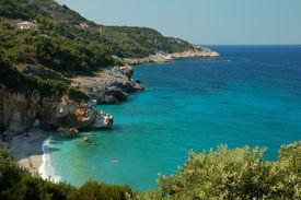 stock photo of beach holiday  - stunning beach in Greece - JPG