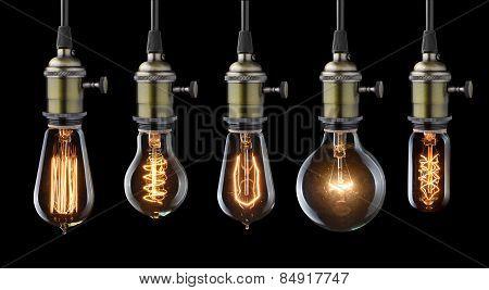 Glowing Old Light Bulbs