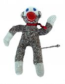 foto of sock-monkey  - super sock monkey is ready to display your text or message - JPG