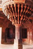 stock photo of khas  - Architectural detail of central pillar of Diwan - JPG