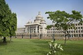 pic of vidhana soudha  - Government building viewed from a garden - JPG
