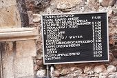 pic of messina  - Menu of a restaurant - JPG