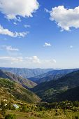 picture of himachal pradesh  - Clouds over mountain range - JPG