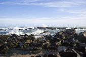 picture of kanyakumari  - Rocks in the sea - JPG