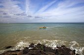 pic of kanyakumari  - Boat moving in the Laccadive Sea - JPG