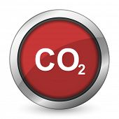 foto of carbon-dioxide  - carbon dioxide red icon co2 sign  - JPG