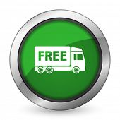 pic of free-trade  - free delivery green icon transport sign  - JPG