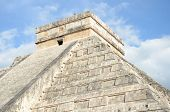 pic of mayan  - Ancient Mayan pyramid Kukulcan temple in Chichen Itza Mexico - JPG