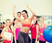 pic of zumba  - fitness and diet concept  - JPG