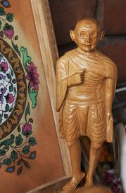picture of gandhi  - Figurine of Mahatma Gandhi at a market stall - JPG
