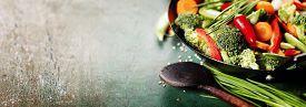 stock photo of chinese wok  - Chinese cuisine - JPG