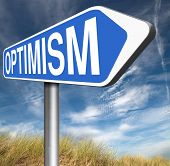 image of positive thought  - optimism think positive be an optimist by having a positivity attitude that leads to a happy optimistic life and mental health   - JPG